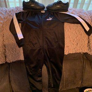 Puma Black jumper jogger size 18mon shoes size 7